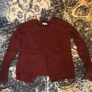 Madewell Split Back Sweater